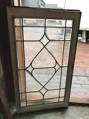 SG 1605 antique all beveled glass transom window 21 x 36.5