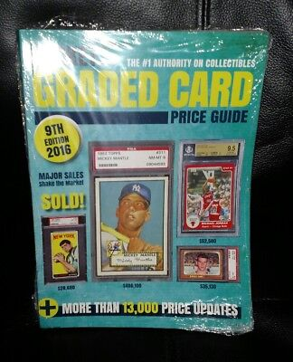 2016 Beckett Graded Card Price Guide Magazine ~ 9th Edition Factory Sealed