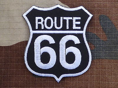 D055 ECUSSON PATCH THERMOCOLLANT aufnaher toppa ROUTE 66 biker country usa trike