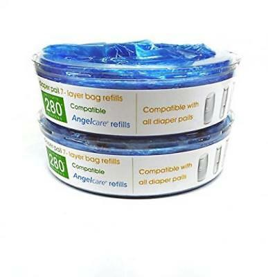 Bloombelle Angelcare Compatible Nappy Bin Cassette Refill Tub (Pack of 2)