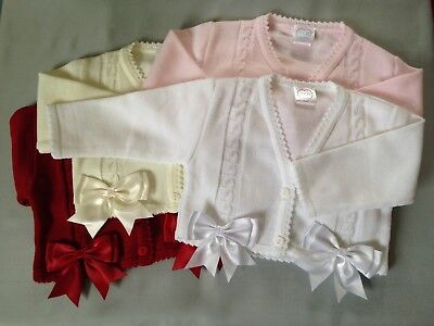 Baby Girl Toddler Girls Kids Spanish Bow Cardigan Bolero Shrug Party Christening