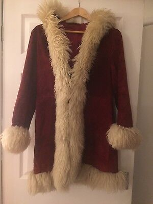 Vintage 60/70s Hippy Afghan, suede/Sheepskin, Coat-perfect for Christmas