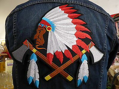 GRAND ECUSSON PATCH THERMOCOLLANT/ CHEF INDIEN navajo commanche sioux country