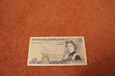 Old £5 note, Mint condition  | ​​​David Somerset |1980-1988