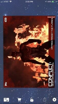 Topps STAR WARS CARD TRADER Hatred Amidst the Flames CONFLICT Obi-Wan Maul Digit