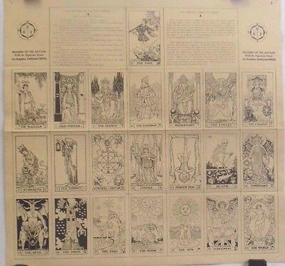 Tarot   Pattern on the Tresleboard   1970s Chart by Builders of the Adytum