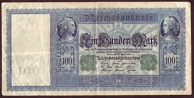 1910 100 Mark Germany vintage paper money banknote currency rare antique Bill