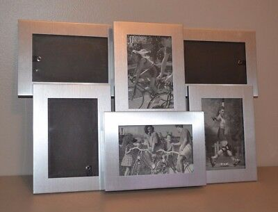 NEW Melannco Six 4 x 6 Openings Collage Wall or Stand Photo Picture Frame Silver