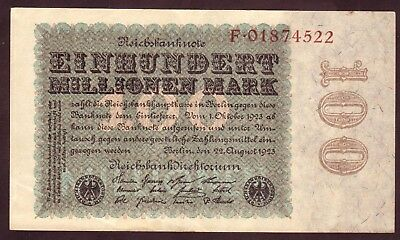 1923 Germany 100 Million Mark Rare Vintage Banknote Paper Money Note Currency