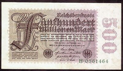 1923 Germany 500 Million Mark Rare Vintage Banknote Money Bill Note Currency old