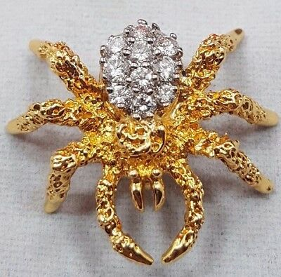 Rare Herbert Rosenthal 18K Diamond Spider Brooch/Pin 100% Authentic!