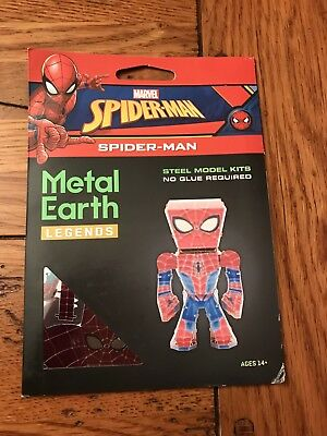 Fascinations Metal Earth Legends Marvel SPIDERMAN Steel 3D Metal Model Kit New
