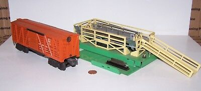 O Scale Lionel Operating Stockyard & Cattle Car Set #3656 Lot P17-276