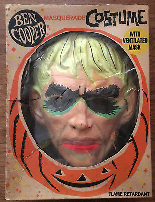 Ben Cooper 1965 Addams Family LURCH unused Halloween costume and mask in Box