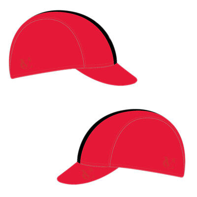 VeloChampion Cycling Tech Cap - Red with Black Band