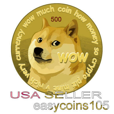 500 Dogecoin (500 dogecoins) Direct to Your DOGE Wallet Fast -Photo ID Required-
