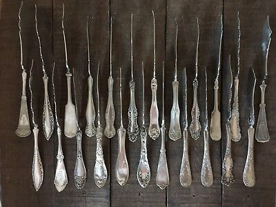 46 TWISTED HANDLE ROGERS etc Lot Silverplate BUTTER KNIVES Various Patterns