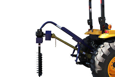 """Tractor Post Hole Digger Pto 3 Point Linkage 50Hp 9"""" Auger With Slip Clutch"""