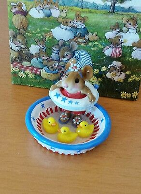 """Wee Forest Folk M-278a """"Ducky Dip"""" RETIRED Mint"""