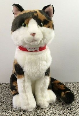 FAO Schwarz Calico Cat Plush Stuffed Animal 11""