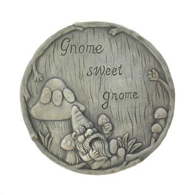 WELCOME sign GNOME cement garden lawn pathway outdoor stepping stone decoration