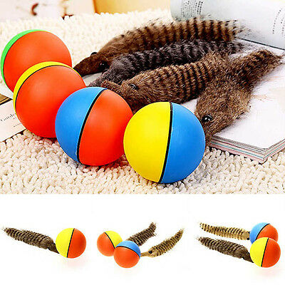 Pet Dog Puppy Cat Weasel Appears Motorized Funny Rolling Ball Jump Moving Toy.#