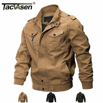 TACVASEN Mens MA-1 Jacket Pilot Bomber Jacket Coats Air Force Flight Army Jacket