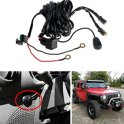 OFF ROAD LIGHT Bar Wiring Harness Kit 12V 40A Relay 2Lead for Driving Off Road Wiring Harness Kits on