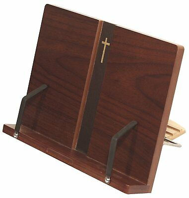 MDF Wood Portable Reading Bible Book Stand Dark Brown Bookstand / iPad Stand / /