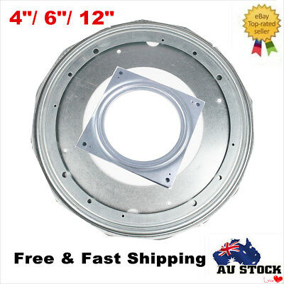 "4""/6""/12"" Lazy Susan Metal Bearing Rotating Swivel Turntable For TV Rack Desk"