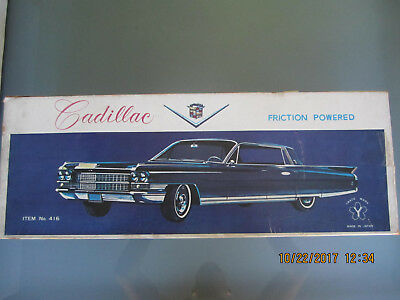 "Yonezawa 1962 Cadillac 22"" Original Box Japan Tin Toy Friction Car **BOX ONLY**"