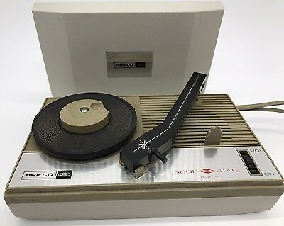 RARE Philco 45 RPM-LP Record Player Vtg Hand Held Portable S-1369 - Not Working