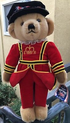 MERRYTHOUGHT Queen Elizabeth Royal Guard Beefeater Bear Made in England
