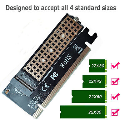 New M.2 NVMe SSD NGFF TO PCIE 3.0 X16 Adapter M Key Interface Card Full Speed