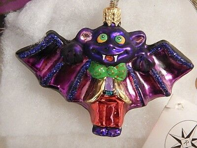Vintage Christopher Radko Halloween Ornament VAMPIRE BAT Boxed