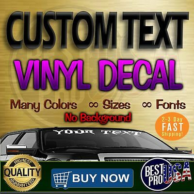 CUSTOM Vinyl Lettering Decal Personalized Sticker Window Wall Text sign business