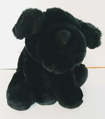 "Commonwealth 13"" Black Lab Labrador Puppy Dog Plush Soft Stuffed Animal Toy"