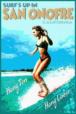 ROXY WAHINE CLASSIC SAN ONOFRE WOMEN'S SURF CONTEST POSTER