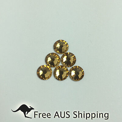 Light Colorado Topaz Non Hotfix Flatback Rhinestones SS20 100pcs - Sparkle AAA+