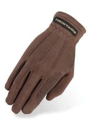 (7/8, Brown) - Heritage Power Grip Glove. Heritage Products. Best Price