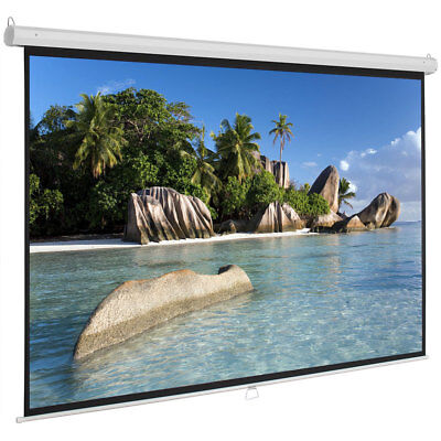 """Hot 100"""" Projector Screen 16:9 Projection HD Manual Pull Down Home Cinema"""