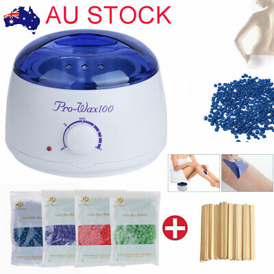 Depilatory Hair Removal Hard Wax Beans Hot Wax Warmer Heater Pot Machine Kit AU