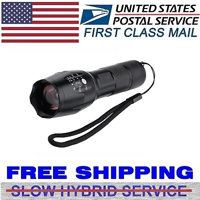 Zoomable 10000Lumens Tactical Military LED 18650 Flashlight Torch Lamp Light