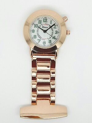 nurse beauticians fob watch rose gold glow in the dark backlight Ravel