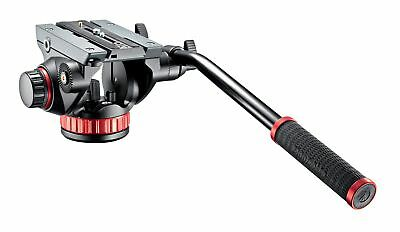 Manfrotto MVH502AH PRO Tripod Video Head 100 with Fluid Drag Flat Base Load 7kg