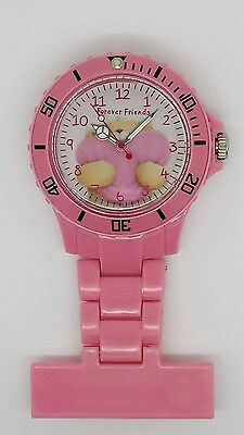 Forever friends nurse fob watch pink