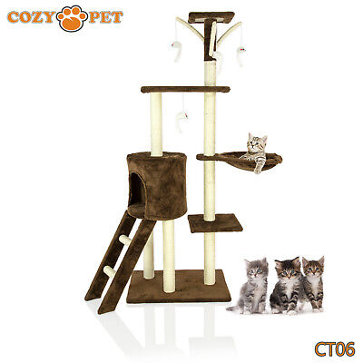 Cozy Pet Deluxe Cat Tree Sisal Scratching Post Quality Cat Trees  CT06-Choc
