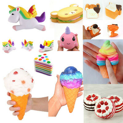 Charm Jumbo Animal Squishy Squeeze Slow Rising Strap Stress Relieve Abreact Toys