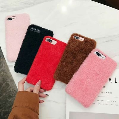 Hot Winter Warm Fashion Simple Plush Soft Case Cover For iPhone 6 7 8 X XS Max