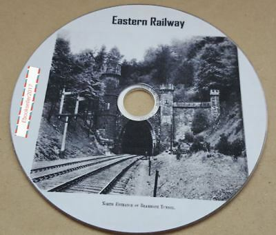 ebooks, Eastern Railway, UK History books timetables converted to Pdf onto disc